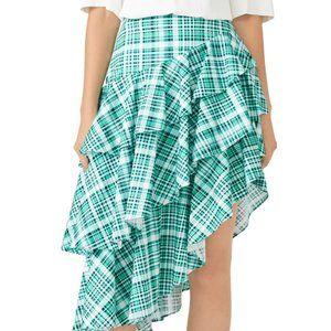 AMUR Plaid Pippie Skirt Size 6 Runs SMALL
